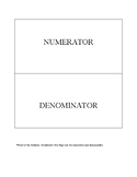 Fraction Foldable (Numerator and Denominator)