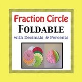 Fraction Foldable with Decimal & Percent