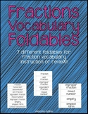 Fraction Vocabulary Foldables (4.NF)