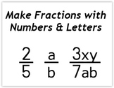 Fraction Font - Algebra - Make fractions with numbers and