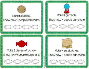 Fraction Foods Play-Doh Task Cards