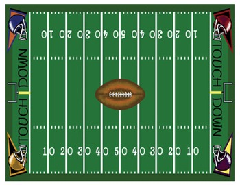 Fraction Football - A 2-Player Game to Practice Finding Parts of a Whole