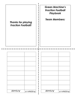 Fraction Football Review Game