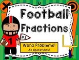 Fraction FootballWord Problems Task Cards