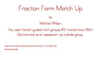 Fraction Form Match Up