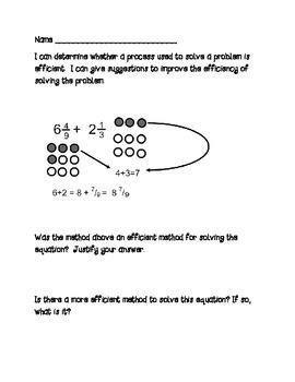 Fraction Formatives: Adding & Subtracting Fractions/ Like & Unlike Denominators