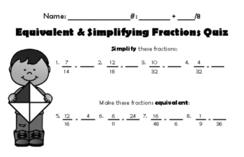 Fraction Foundational Individual Skill Quizzes