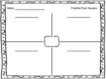 Fraction Four Square Freebie