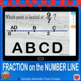 Fraction Fractions On a Number Line Point Location Boom Cards