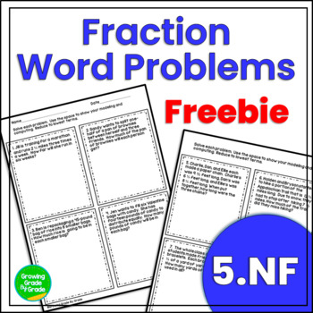 Fraction Word Problems Freebie By Growing Grade By Grade Tpt