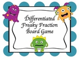 5th Grade Fraction Game w/ Differentiated Word Problems ba
