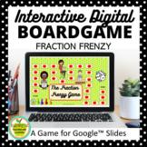 Fraction Frenzy Digital Board Game for Google Slides