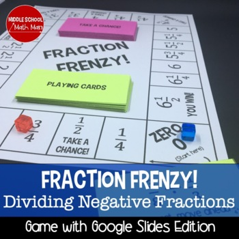 Fraction Frenzy! Dividing Fractions Board Game (Negative Number Edition)