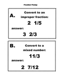 Fraction Frenzy Improper and Mixed Number Scavenger Hunt {Common Core}