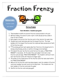 Fraction Frenzy Math Center Game