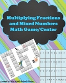 Multiplying Fractions & Mixed Numbers Game/Center