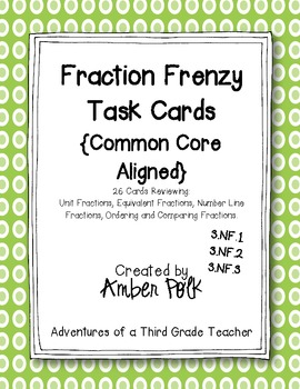 Fraction Frenzy Task Cards {Common Core}