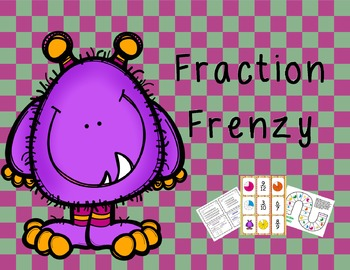 Fraction Frenzy: Third grade Fraction Task Card and Games