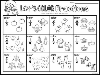 Fraction Friends {Centers and Printables for Basic Fractions}