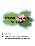 Fraction Frog Jumps Worksheet - Number Line Activity