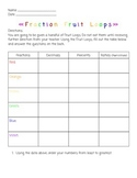 Fraction Fruit Loops