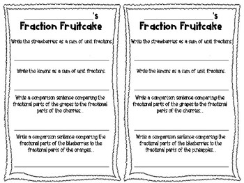 Fraction Fruitcake - A Holiday Craftivity!