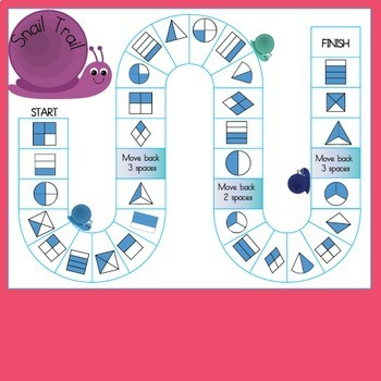 Fraction Games for Second Grade by Teaching Trove | TpT