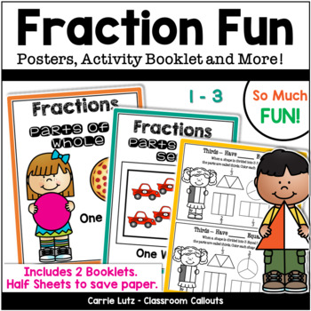Fraction Activities - Whole and Set to Eighths