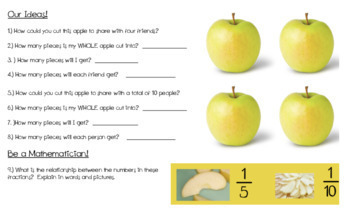 Fraction Fun: Appealing Apples Student Worksheet!