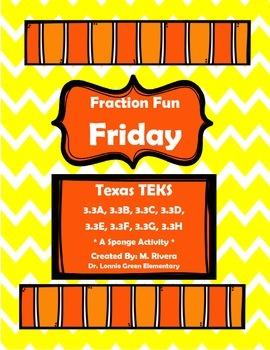 Fraction Fun Friday Sponge