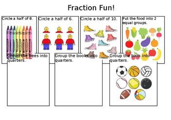 Fraction Fun! Halves & Quarters