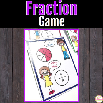Fraction Game - I have!  Who Has?