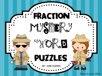 Fraction Fun Mystery Word Puzzles