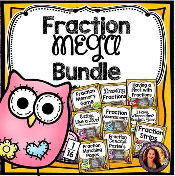 Fraction MEGA Bundle: Fraction Games,Problems & Activities