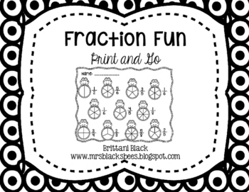 Fraction Fun~ Print and Go