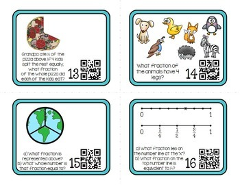 Fractions for 3rd Grade - Practice and Review Task Cards
