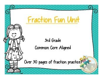 3rd Grade Fraction Fun Unit