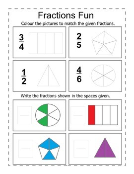 Fraction Fun Worksheets