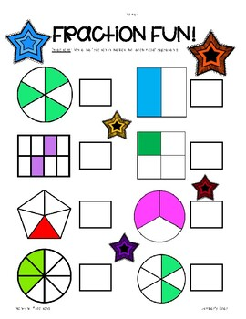Fraction Fun! Worksheet - Naming Unit and Non-Unit Fractions