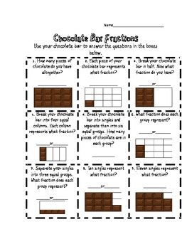 fraction fun with m ms and chocolate bars by miss britnee tpt. Black Bedroom Furniture Sets. Home Design Ideas