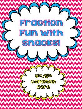 Fraction Fun with Snacks {Freebie}