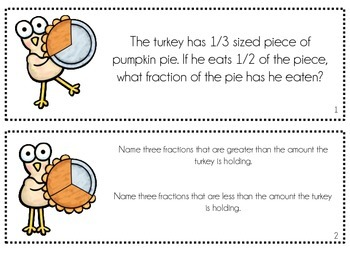 Fraction Fun with Turkeys and Pies: Great for Common Core Fraction Skills