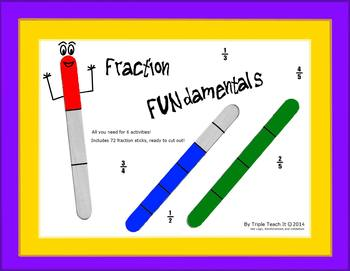 Fraction Fundamentals - Create and Compare Fractions using Fraction Sticks!