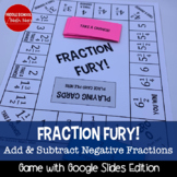 Fraction Fury! Adding/Subtracting Fractions Board Game (Negative Number Edition)