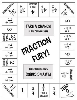 Fraction Fury! An Adding and Subtracting Fractions Board Game