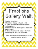 Fraction Gallery Walk Common Core Aligned 3.NF.1