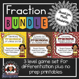 Fraction Games - Identifying, Comparing, and Fractions on