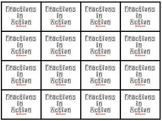 Fraction- Game Cards