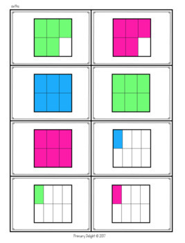 Fraction Game: Comparing Fractions War - BUNDLE