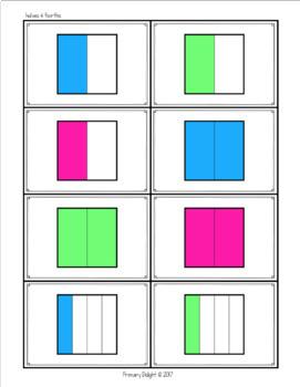 Fraction Game: Comparing Fractions War - BUNDLE